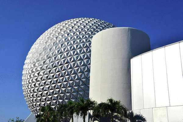 Epcot Center Wall Art - Photograph - Epcot Modern Architecture by David Lee Thompson