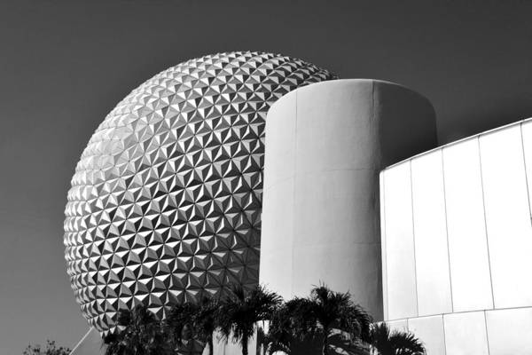 Epcot Center Wall Art - Photograph - Epcot Modern Architecture Work A by David Lee Thompson