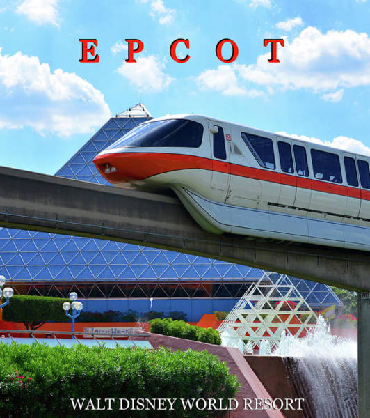 Epcot Center Wall Art - Photograph - Epcot Poster Work B by David Lee Thompson
