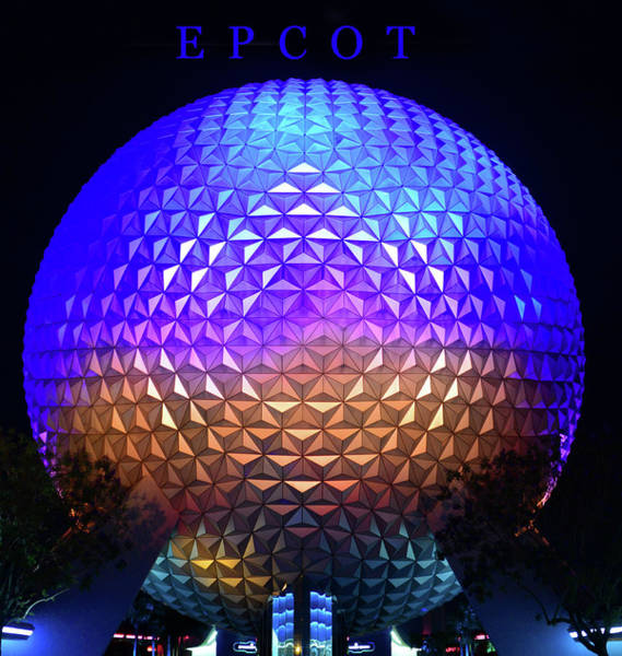 Epcot Center Wall Art - Photograph - Epcot Poster Work Blue by David Lee Thompson
