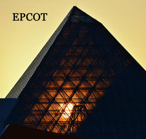 Epcot Center Wall Art - Photograph - Epcot Pyramid Poster A by David Lee Thompson