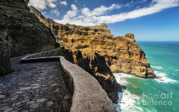 Photograph - Scenic Route To Fontainhas, Santo Antao, Cape Verde by Lyl Dil Creations