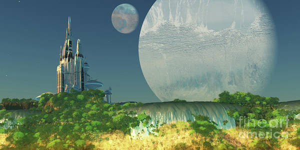 Wall Art - Digital Art - Epsilon Eridani Planet by Corey Ford