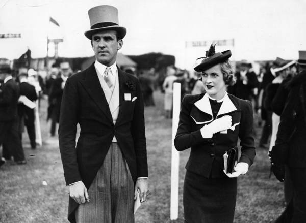 Top Hat Photograph - Epsom Hats by Topical Press Agency