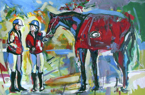 Painting - Equestrian For Two by John Jr Gholson