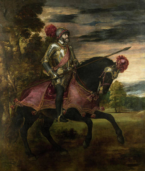 Wall Art - Painting - Equestrian Portrait Of Charles V by Titian