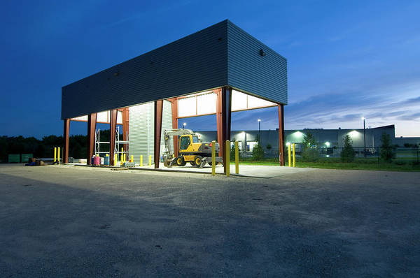 Equipment Photograph - Equipment Bay At Dawn by John Coletti