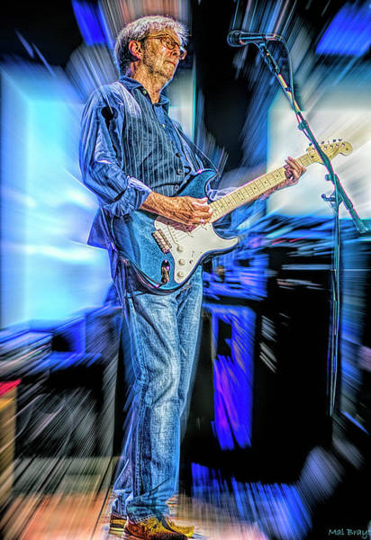Wall Art - Mixed Media - Eric Clapton Slowhand by Mal Bray