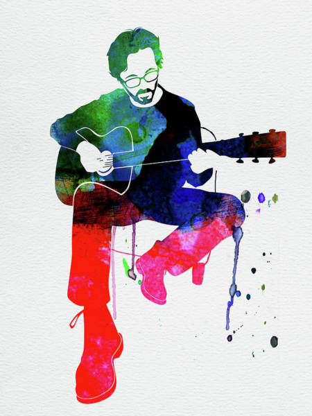 Wall Art - Mixed Media - Eric Clapton Watercolor by Naxart Studio