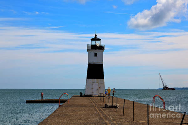 Photograph - Erie Harbor North Pier Light by Jill Lang