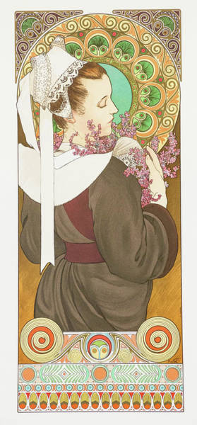 Wall Art - Painting - Erika On The Shore - Digital Remastered Edition by Alfons Maria Mucha