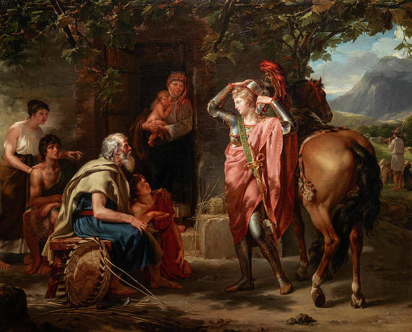 Wall Art - Painting - Erminia And The Shepherds, 1795 by Guillaume Lethiere