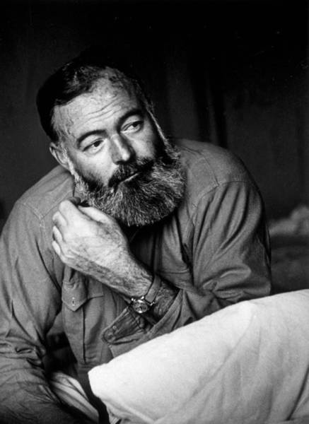 Usa Photograph - Ernest Hemingway by Kurt Hutton