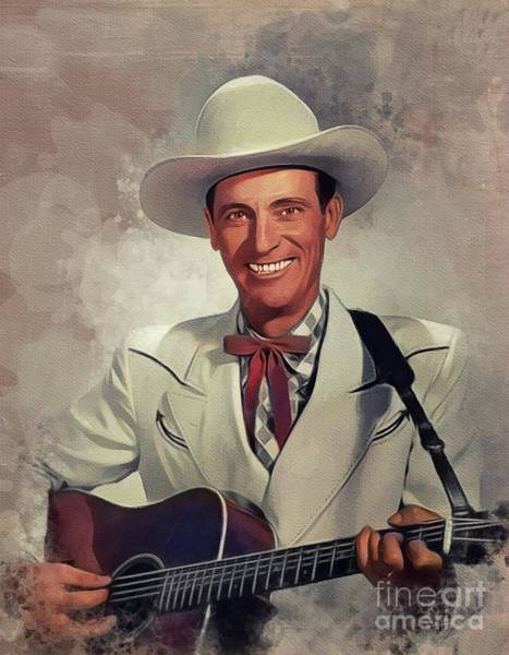 Wall Art - Painting - Ernest Tubb, Music Legend by John Springfield