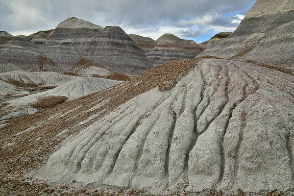 Photograph - Eroded Blue Mesa Dunes In Petrified Forest by Ray Mathis