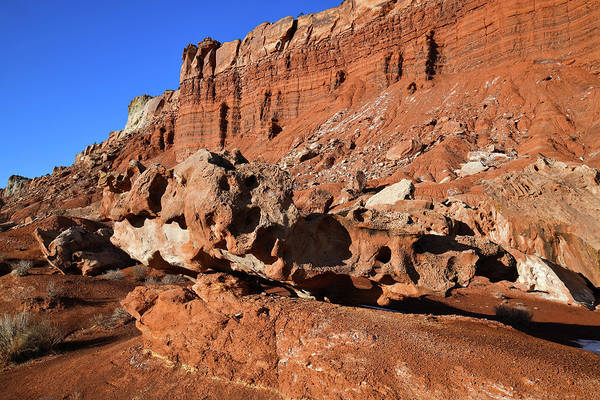 Photograph - Eroded Rock Shapes Along Scenic Drive by Ray Mathis