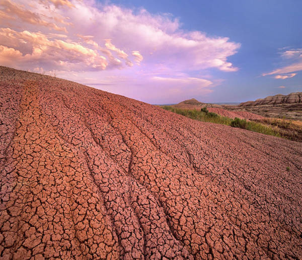 Photograph - Eroded Sedimentary Rock, Badlands by