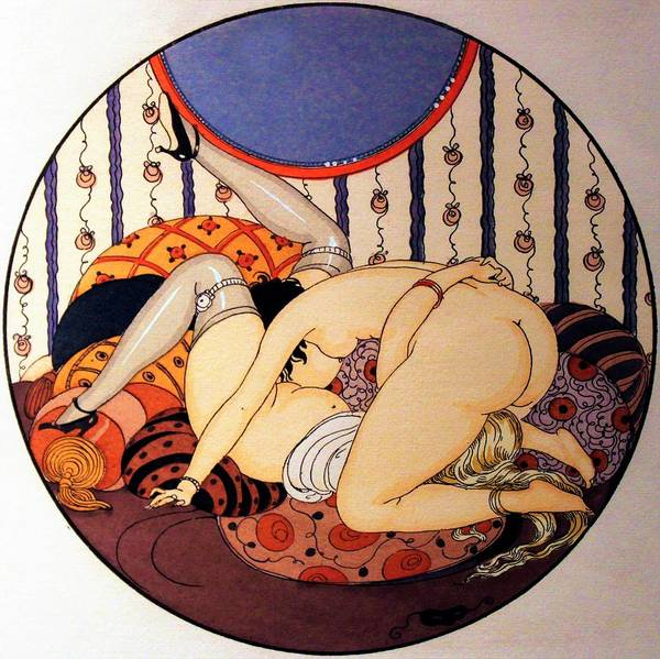 Wall Art - Painting - Eros Pleasure 06 - Digital Remastered Edition by Gerda Wegener
