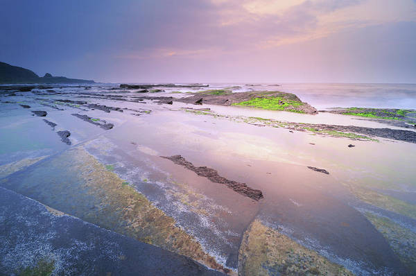 Trench Wall Art - Photograph - Erosion Platforms At Dawn by Joyoyo Chen