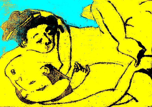 Digital Art - Erotic Japanese Pop Art Print 16c by Artist Dot