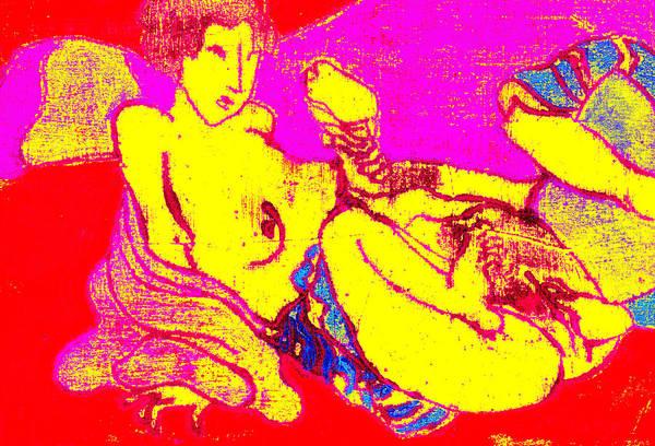 Digital Art - Erotic Japanese Pop Art Print 3 by Artist Dot