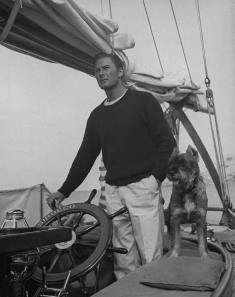 Dog Photograph - Errol Flynn by Peter Stackpole