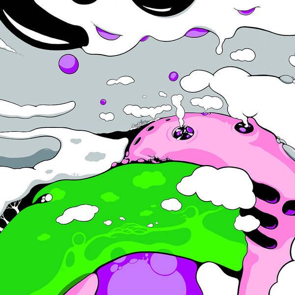 Drawing - Eruption For Queen Duvet by Craig Tilley