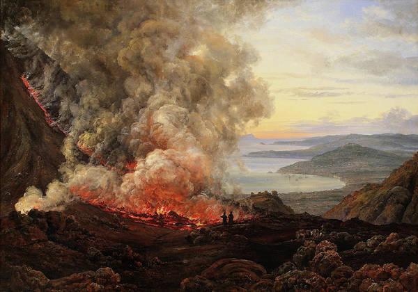 Wall Art - Painting - Eruption Of The Volcano Vesuvius - Digital Remastered Edition by Johan Christian Dahl