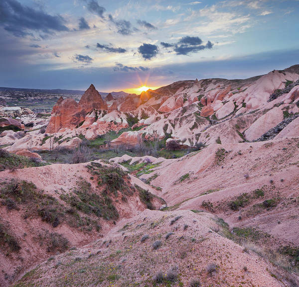 Cappadocia Photograph - Erusion Of Tuff At Sunset, Kappadokien by Rainer Mirau / Look-foto