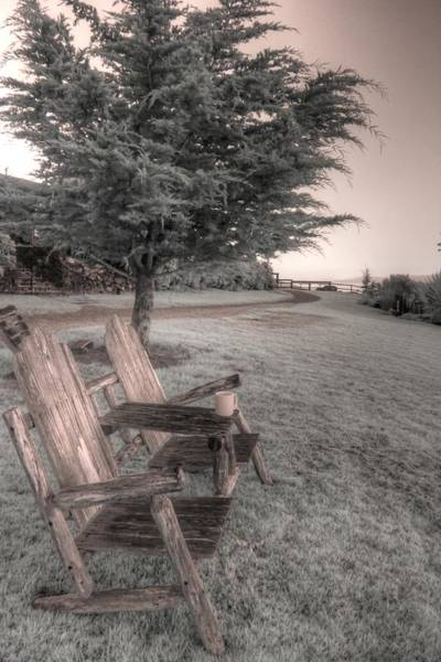 Wall Art - Photograph - Esalen Chair Mediation Adirondack  by Jane Linders