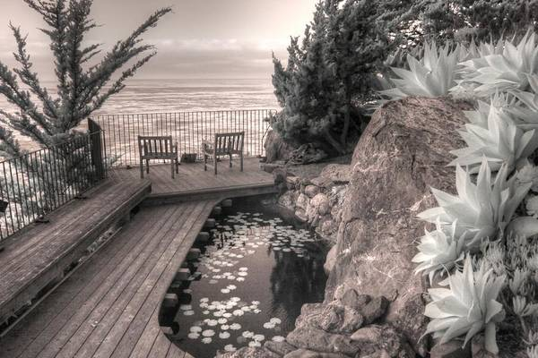 Mediation Photograph - Esalen Institute Mediation Big Sur California Infrared by Jane Linders