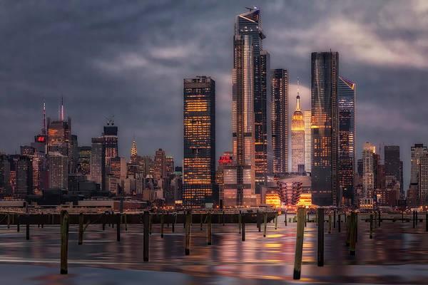 Photograph - Esb Nyc Hudson Yards Skyline by Susan Candelario