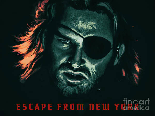 Mixed Media - Escape From New York 1981 by Kultur Arts Studios