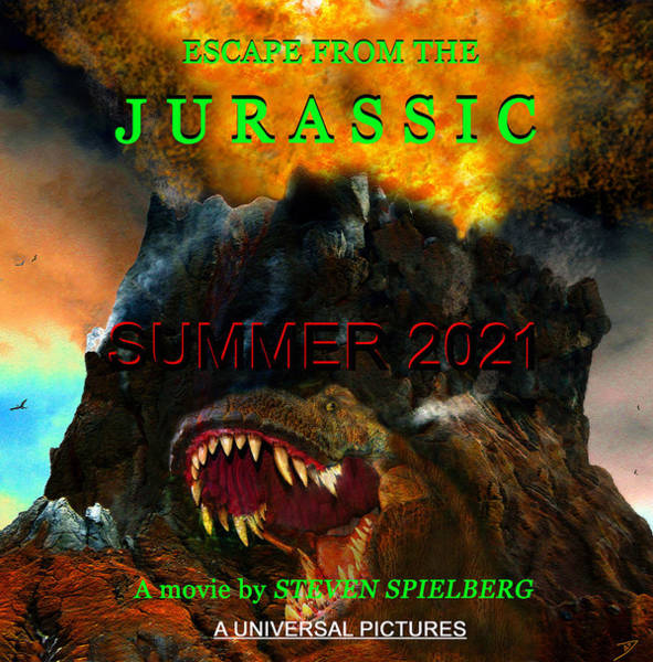 Wall Art - Mixed Media - Escape From The Jurassic 2021 by David Lee Thompson
