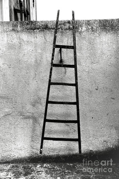 Ladders Photograph - Escape by Olivier Le Queinec
