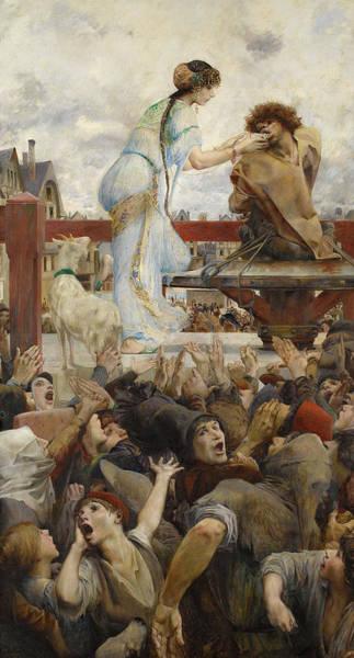 Wall Art - Painting - Esmeralda And Quasimodo, 1905 by Luc-Olivier Merson