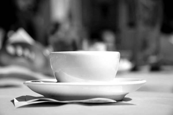 Tissue Paper Photograph - Espresso Coffee Cup by Paul De Gregorio