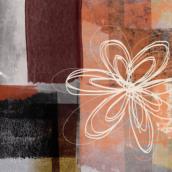Black Mixed Media - Espresso Flower 1-  Art By Linda Woods by Linda Woods