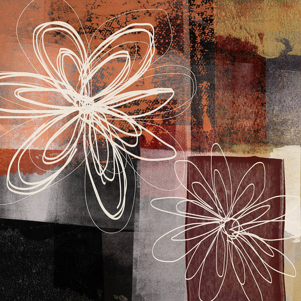 Wall Art - Mixed Media - Espresso Flower 2- Art By Linda Woods by Linda Woods