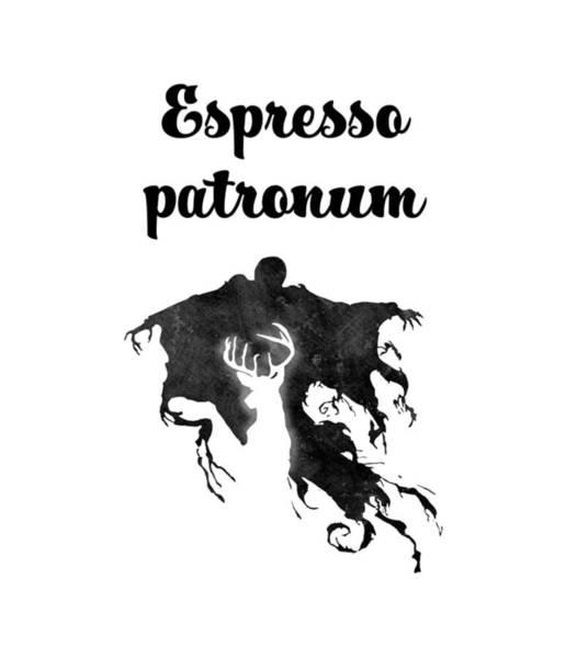 Ron Weasley Wall Art - Digital Art - Espresso Patronum by Uwaki Art