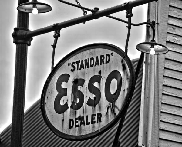 Flagler Photograph - Esso Dealer Sign by Ben Prepelka