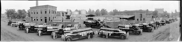 Wall Art - Photograph - Essolube Motor Oil Trucks, Standard Oil by Fred Schutz Collection