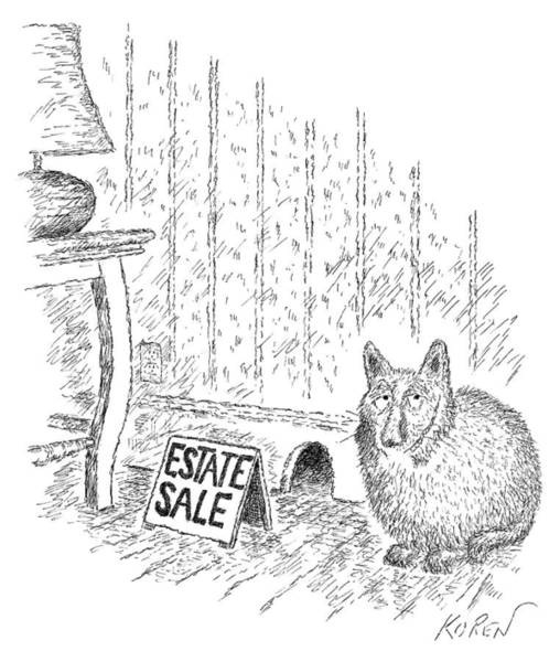 House Cats Drawing - Estate Sale by Edward Koren