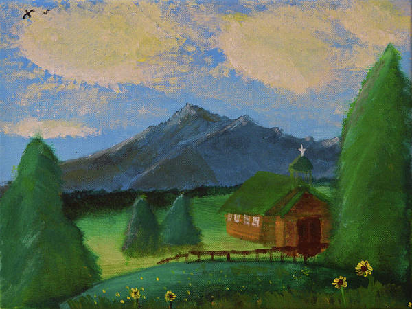 Painting - Esterbrook Chapel, Wyoming by Chance Kafka