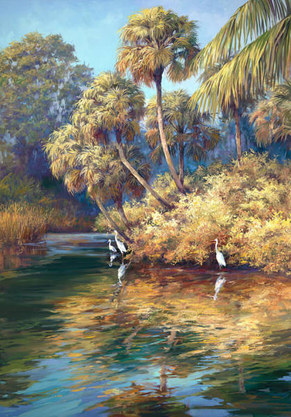 Lake Okeechobee Wall Art - Painting - Estero River by Laurie Snow Hein