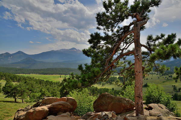 Photograph - Estes Park And Longs Peak From Trail Ridge Road by Ray Mathis
