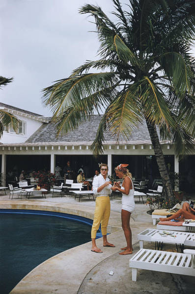Two People Photograph - Esther Williams By The Pool by Slim Aarons