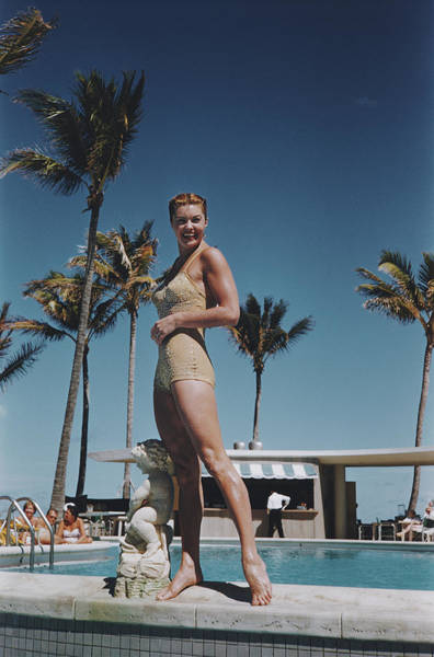 Smiling Photograph - Esther Williams by Slim Aarons