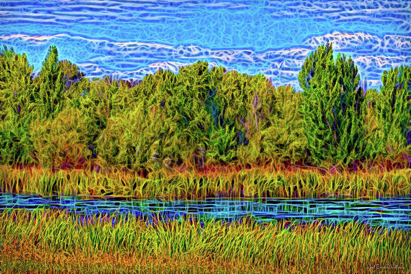 Digital Art - Eternal Lake Day by Joel Bruce Wallach