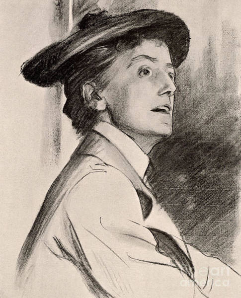 Wall Art - Drawing - Ethel Mary Smyth by John Singer Sargent